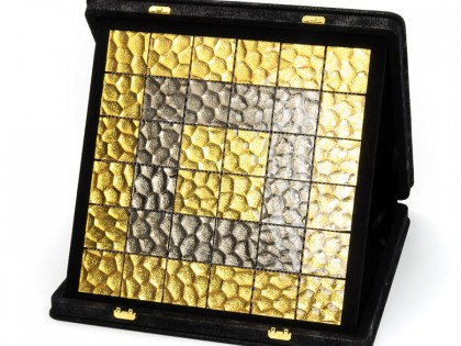 Biondi altın platin kaplama cam mozaik 360° fotoğrafı ve dekor uygulama